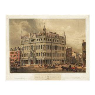 The New Masonic Temple - Boston 1855 Gallery Wrap Canvas