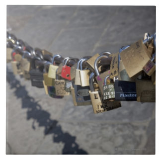 the new tradition of 'locks of love' attached by tiles