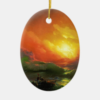 The Ninth Wave by Aivazovsky Ivan Christmas Ornament