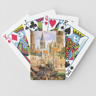 The old market at Rouen by Camille Pissarro Card Decks