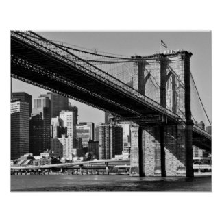 The old New York Bridge Poster