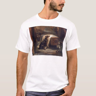 The Old Shepherd's Chief Mourner by Edwin Henry T-Shirt