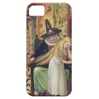 The Old Witch combing Gerda's hair with a golden c iPhone 5 Covers