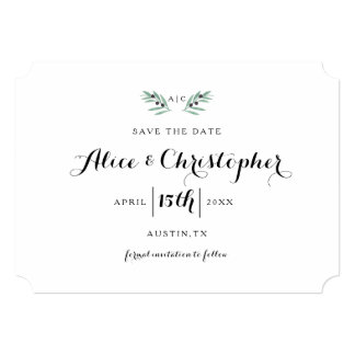 The Olive Spring Save The Date Card