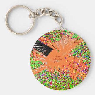 The Orange Coy Fish Basic Round Button Key Ring