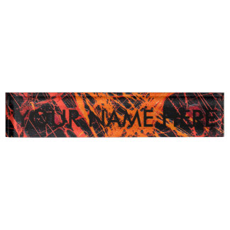 THE ORANGE WEB (an abstract art design) ~ Nameplate