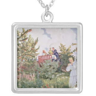 The Orchard, 1918 Silver Plated Necklace