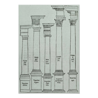 The Orders of Architecture Poster
