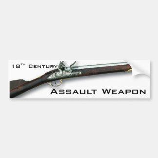 The original assault weapon bumper sticker
