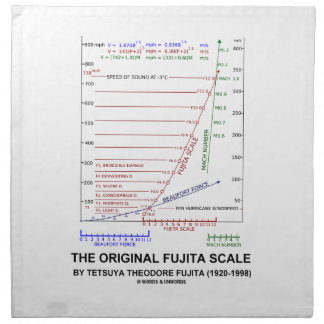 The Original Fujita Scale Tetsuya Theodore Fujita Napkin