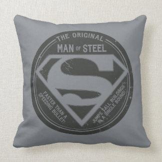 The Original Man of Steel Throw Pillow