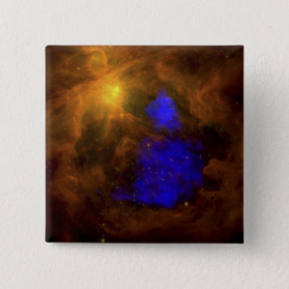The Orion nebula in the infrared 15 Cm Square Badge