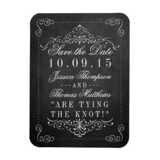 The Ornate Chalkboard Wedding Collection Magnet