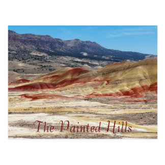 The Painted Hills of Oregon Travel Postcard