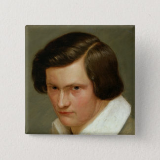The Painter Otto Speckter , c.1831 15 Cm Square Badge