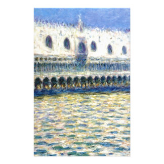 The Palazzo Ducale by Claude Monet Stationery