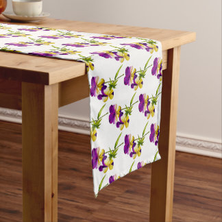 'The Pansy Party' on a Table Runner