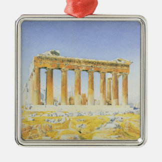 The Parthenon, c.1834 (w/c over pencil on paper) Christmas Ornament