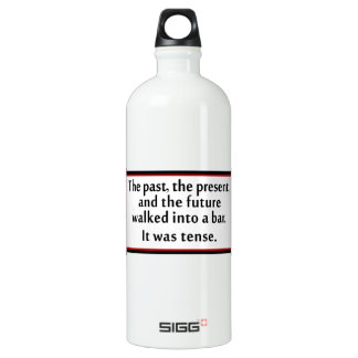 The past, the present, and the future water bottle