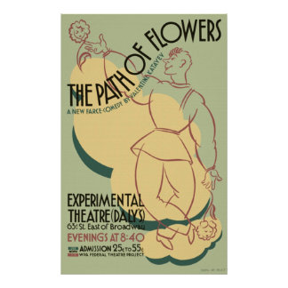 The Path of Flowers Poster