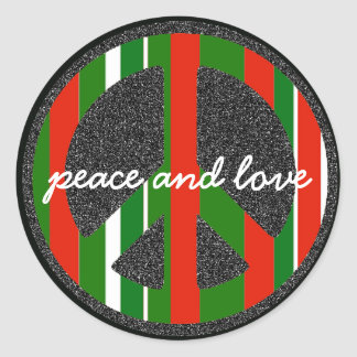 the peace love symbol sticker