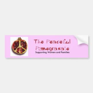 The Peaceful Pomegranate Bumper Sticker