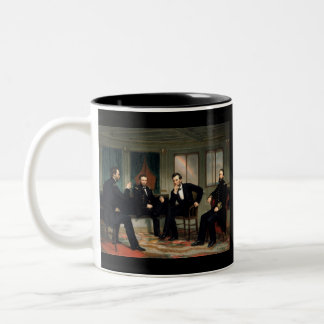 The Peacemakers with Abraham Lincoln Two-Tone Coffee Mug