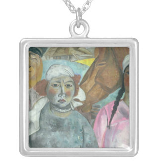 The Peasant Family, 1923 Silver Plated Necklace