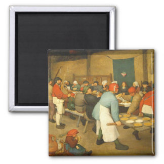 The Peasant Wedding - 1568 Square Magnet