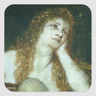 The Penitent Mary Magdalene, 1873 Square Sticker