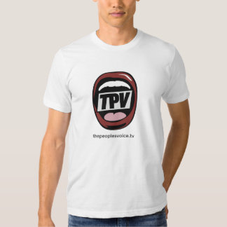 The Peoples Voice TV American apparel T Shirt