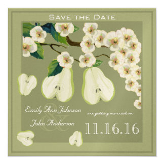 The Perfect Pear Blooming Branch Save the Date Card