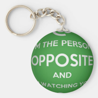 The Person Opposite Basic Round Button Key Ring