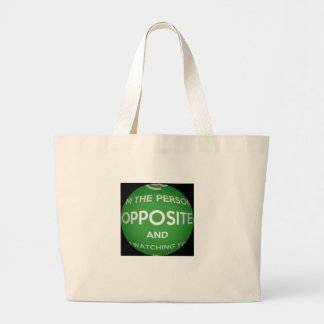 The Person Opposite Jumbo Tote Bag