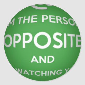 The Person Opposite Round Sticker