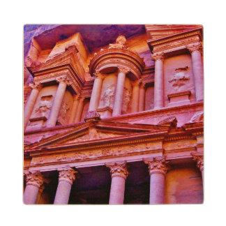The Petra Treasury Wood Coaster