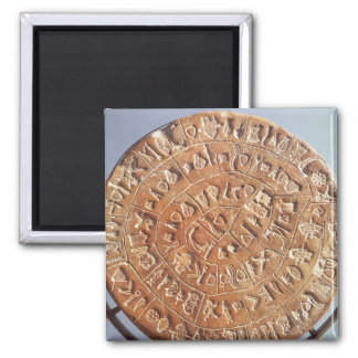 The Phaistos Disc, with unknown significance Refrigerator Magnet