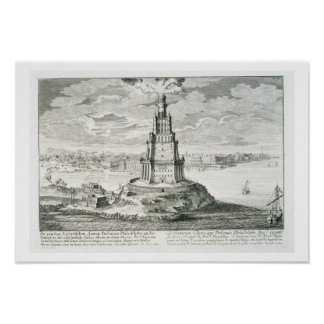 The Pharos of Alexandria, plate 9 from 'Entwurf ei Poster