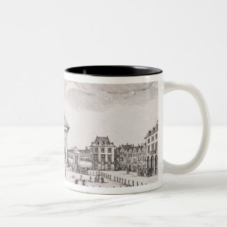The Piazza in Covent Garden, 1647 (engraving) Two-Tone Coffee Mug