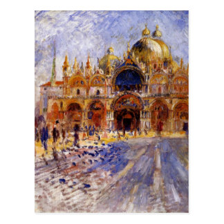 The Piazza San Marco by Pierre-Auguste Renoir Postcard