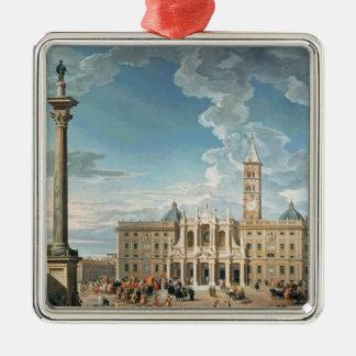 The Piazza Santa Maria Maggiore, 1752 Christmas Ornament