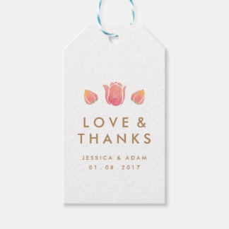 The Pink Tulip Wedding Thank You Favor Gift Tags