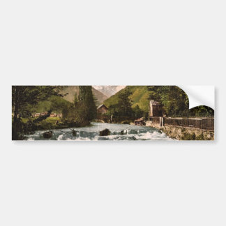 The Pique Waterfall, Luchon, Pyrenees, France clas Bumper Stickers