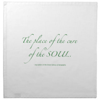 The Place of the Cure of the Soul Cloth Napkins