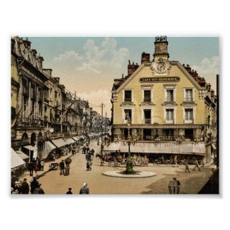 The place of the salt well, Dieppe, France classic Posters