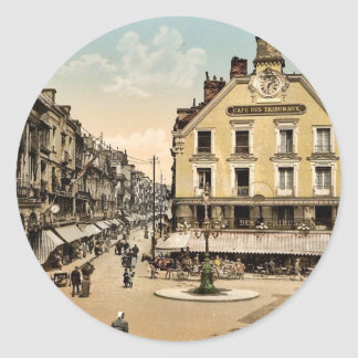The place of the salt well, Dieppe, France classic Round Stickers