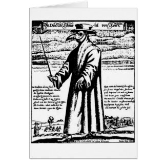 The Plague Doctor. Greeting Card