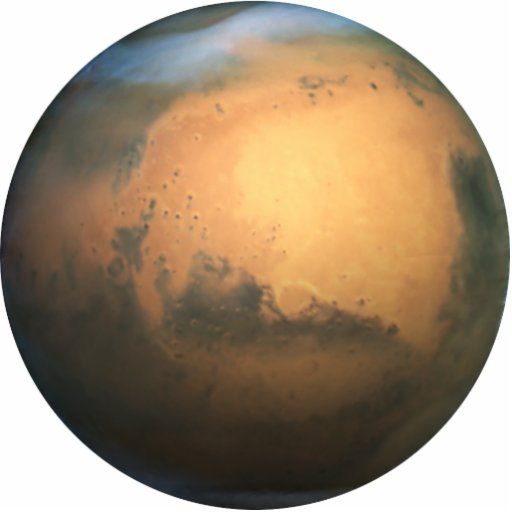 The Planet Mars - 3D Effect Photo Cutouts