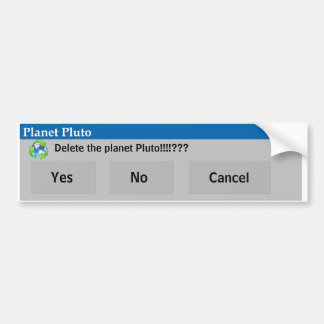The Planet Pluto Bumper Sticker