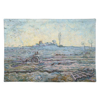The Plough and the Harrow by Vincent Van Gogh Placemat